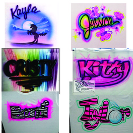 airbrushed designs for girls on t-shirts