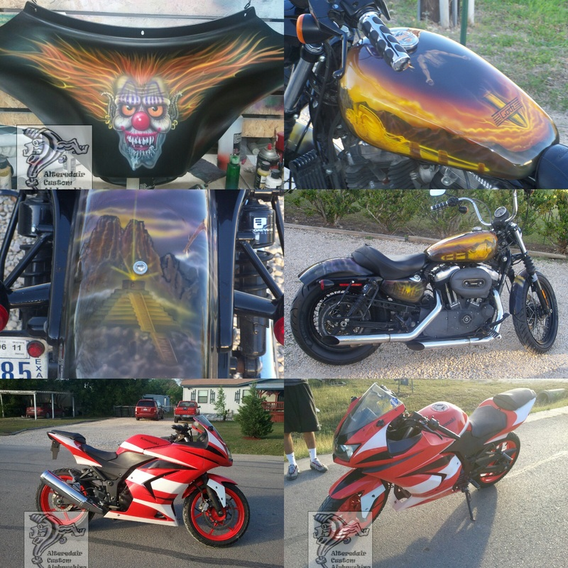 Airbrushed motorcycles
